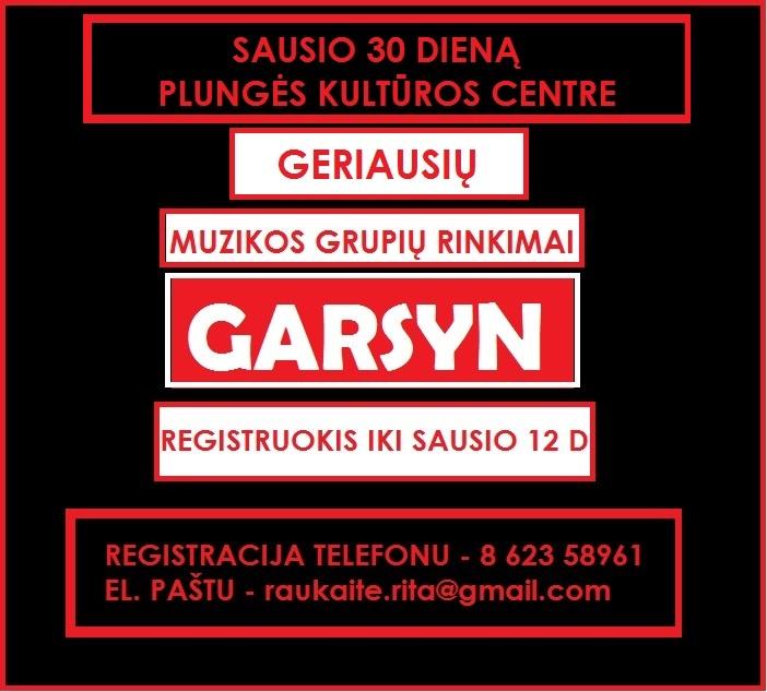 Kvietimas į Garsyn. nAUJAS
